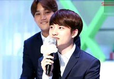 KAI wasn't starring, they just fit each other. #Kai #Kyungsoo Exocast 150406