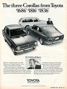 1969 Toyota Corolla Advertising Hot Rod Magazine September 1969