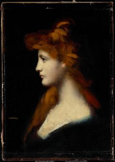 untitled picture by Jean-Jacques Henner (1829-1905), French painter noted for his use of sfumato and chiaroscuro (wiki - picssr)