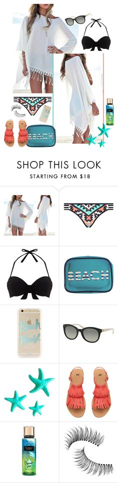 """""""Stellar Summer"""" by akflow ❤ liked on Polyvore featuring Seafolly, Mint Velvet, MACBETH, Sonix, Michael Kors, Dot & Bo and Trish McEvoy"""