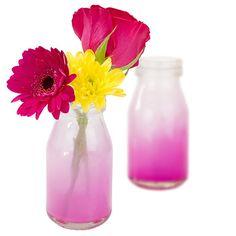 Pink Jazzy Glass Milk Jar