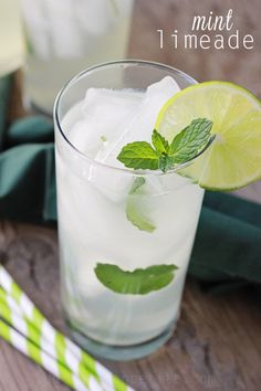 Mint limeade recipe. So easy and the addition of lime makes this extra refreshing!
