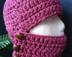 Hat Crochet PATTERN ski mask 26 BALACLAVA Ski Hat by Hectanooga