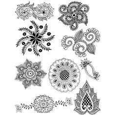 Mandalas, Stencils, Walls Tiles ❤ liked on Polyvore
