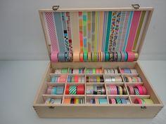 mi caja de washi tapes... y quiero mas.....