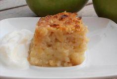 Pudding de manzana hecho en thermomix