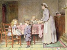 Tea Time, Kilburne, George Goodwin (1839-1924)