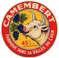 Héraldie: La vache sur les étiquettes de fromage (1) Vintage Artwork, Vintage Images, Vintage Prints, Vintage Posters, Fromage Cheese, Circle Logo Design, Cheese Shop, Vintage Lettering, Garage Art