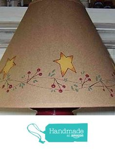 Berries, Vines and Stars Brown Oiled Craft Lampshade from Primitive Country Loft House https://www.amazon.com/dp/B01DZ1M5H6/ref=hnd_sw_r_pi_awdo_.jWNyb7592R0Y #handmadeatamazon