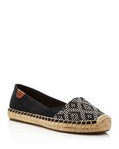 Geometric print panels lend globetrotter-chic style to Sperry's canvas espadrilles, designed with wave-siped soles for unbeatable traction. | Canvas upper, leather lining, rubber sole | Imported | Fit