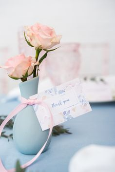 These mini flower vases can double as decor items for wedding tables and a take home favor for guests! Fill with your favorite blossoms and dress up with some ribbon and favor tag.