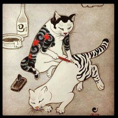 =^..^= …  Maybe a leopard can't change its spots, but it's possible that a cat can change its stripes, with just a little help.