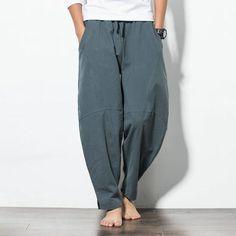ab199dcbfcc Hot sale 2017 Autumn Plus Size Hip Hop Harem Pants Men Casual Loose Trousers  Drawstring Joggers Black M-5XL