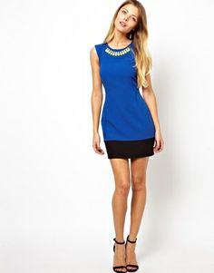 Enlarge ASOS PETITE Exclusive Jewel Neck Dress