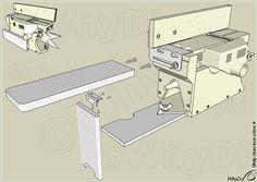 Outfeed Table Homemade Tools, Diy Tools, Sanding Tips, Homemade Machine, Woodworking Tools, Workshop, Garage, Mini, Hacks