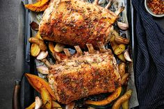 Herbed Double Rack of Pork With Potatoes & Squash | Canadian Living