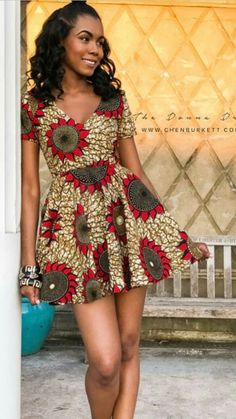 - Source by - Nigerian Dress Styles, Short African Dresses, Latest African Fashion Dresses, Nigerian Fashion, Ankara Fashion, Short Dresses, Fashion Outfits, African Print Clothing, African Shirts