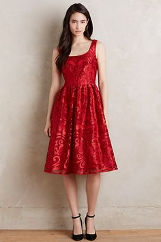Poinsettia Dress #anthropologie
