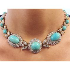 Beautiful Easter egg blue turquoise necklace, by @vancleefarpels. #christiesjewels #jewelry