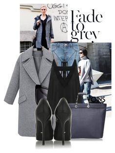 """""""fade to grey with Yoins"""" by black-eclipse-red-sky ❤ liked on Polyvore featuring Elizabeth and James, Sergio Rossi, women's clothing, women's fashion, women, female, woman, misses, juniors and yoins"""