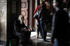 """A 100-year-old beggar in a threadbare coat, """"Grandpa"""" Dobri, is already celebrated as a saint in Bulgaria -- a symbol of goodness in a country ravaged by poverty and corruption. For over 20 years, Dobri Dobrev has been begging on the streets of Sofia, collecting alms worth tens of thousands of euros. And he has given it all to the Bulgarian Orthodox Church."""