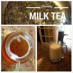 Jasmine Milk Tea Recipe - Brewed to Perfection: Chewy Boba, Pefectly Steeped Tea- TheSnobbyFoodie.com