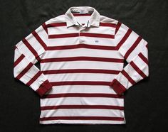SOUTHERN TIDE The Polo NAUTICAL MENS L RED WHITE STRIPED SKIPJACK SHIRT #SOUTHERNTIDE #PoloRugby