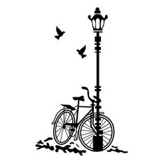 Vinyl bike in the park, bike – Cake Types Illustration Art Drawing, Art Drawings, Drawing Art, Wall Murals, Wall Art, Diy Wall Painting, Ideias Diy, Butterfly Wall Stickers, Silhouette Art