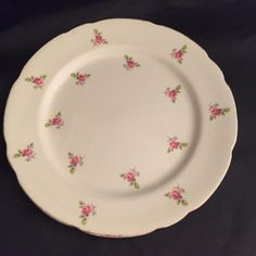 For Sale: Vintage lunch plate Rose Buds Royal Stafford - #3286