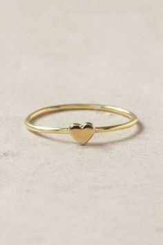 Wee Heart Ring from Anthropologie. Dainty, feminine, sweet.