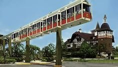 The original monorail at Busch Gardens Tampa Florida 1966.