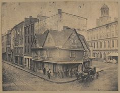 """Boston, """"Old Cocked Hat"""", Dock Square, 1680. 
