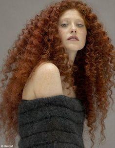Sur la photo ci-dessus, ce type de cheveux n'est pas courant, et a le mérite de donner une allure princière. Ces cheveux frisés et épais encadrent le visage d'un halo élégant. A tenter si votre nature de cheveux s'y prête.   Coupe Hair Coif.