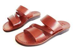 3ea4e4d08aca Items similar to SALE ! New Leather Sandals GREEK Men s Shoes Thongs Flip  Flops Flats Slides Slippers Biblical Bridal Wedding Colored Footwear  Designer on ...