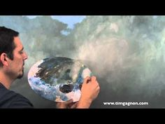 Create layers and depth in clouds with liquid medium. myb Oil Painting Tips Tricks and Techniques from Tim Gagnon. Using liquin medium. - YouTube