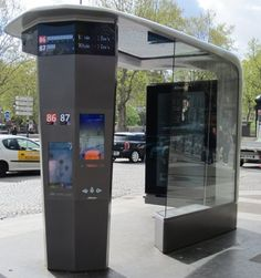 JCDecaux SA, has announced the installation of four of the Group's six Intelligent Street Furniture items selected by the Paris City Authorities as part of its process to evaluate new projects. Urban Furniture, City Furniture, Street Furniture, Furniture Design, Bus Stop Design, Ligne Bus, Bus Shelters, Shelter Design, Paris Ville