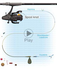 Carp fishing knots : Spool knot