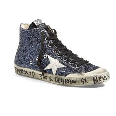Golden Goose Womens Superstar Leather Trainers in Blue - Golden Goose Outlet