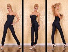 macacão jeans tomara que caia loira