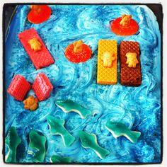 Shark week cake!!