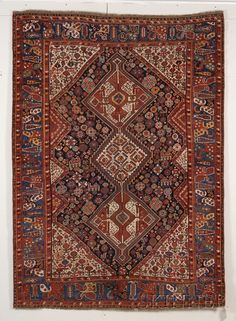 Khamseh Rug, Southwest Persia, late 19th century, 8 ft. x 5 ft. 10 in. | Skinner Auctioneers