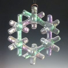 Items similar to Fused Glass Snowflake Ornament Suncatcher - Lavender - One Of A Kind - Large on Etsy Glass Christmas Decorations, Stained Glass Christmas, Glass Christmas Tree Ornaments, Snowflake Ornaments, Real Snowflakes, Christmas Star, Christmas Crafts, Xmas, Fused Glass Ornaments