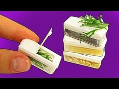 DIY Miniature Food Containers - YouTube