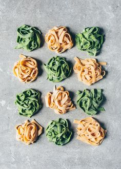 This quick & easy Homemade Vegan Pasta Recipe can be made without a noodle machine or eggs in a few simple steps (step-by-step pictures included). There's also an option for how to make green Spinach Pasta in this recipe. Eggless Pasta Dough Recipe, Easy Homemade Pasta Recipe, Homemade Pasta Dough, Pasta Without Eggs, Pasta Recipes, Vegan Recipes, Protein Recipes, Vegan Protein, Vegan Snacks