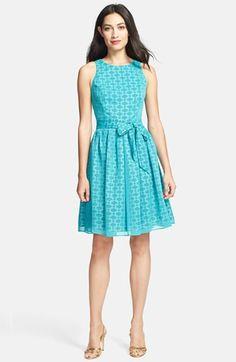 Isaac Mizrahi New York Print Chiffon Fit & Flare Dress (Regular & Petite) available at #Nordstrom