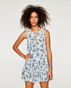 PRINTED JUMPSUIT-DRESS-View all-DRESSES-WOMAN | ZARA United Kingdom