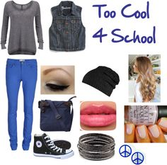 """Too Cool For School"" by bellanna on Polyvore"