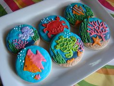 Under the Sea cookies by Kiwi's Kookies