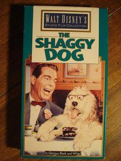 Fred McMurrarys Disney movie | Walt Disney The Shaggy Dog VHS video tape movie film, Fred MacMurray ...