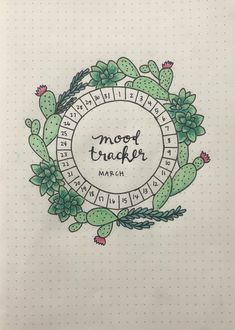 My mood tracker for March! : bulletjournal